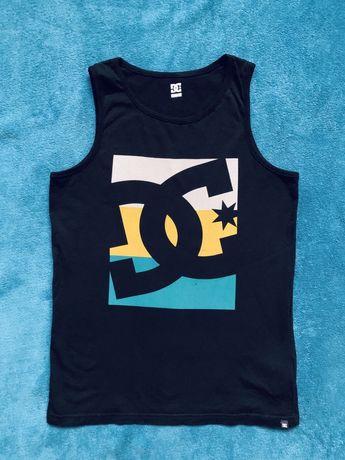 DC Original czarna koszulka bez rękawków stan idealny oryginalna r.L/1