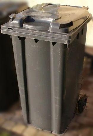 Pojemnik kosz kubeł na śmieci odpady 240 litrów 0,24m3 używany