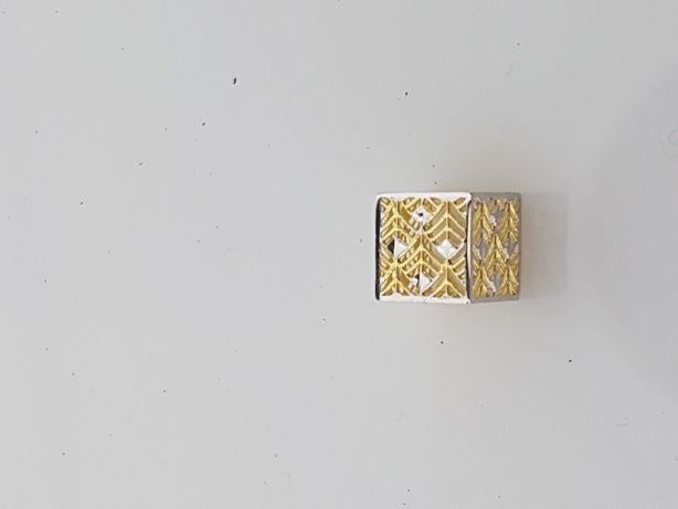 Złoty element charms na bransoletkę Pandora 14k.Nowy(006)