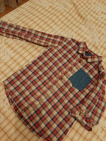 5-6 лет. Рубашка для мальчика. Стильная. Reserved. Р. 116 см. Хлопок.