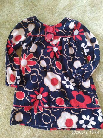 Sukienka Next z długim rękawem sztruks