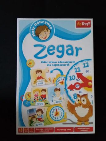 """Gra edukacyjna """"Zegar"""" Mały odkrywca Trefl"""