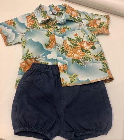 Шорти гавайки стильний літній одяг для хлопчиків 74-80 рр