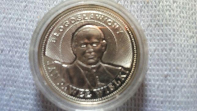 Srebrny medal z Mennicy Panstwowej z Papieżem Polakiem