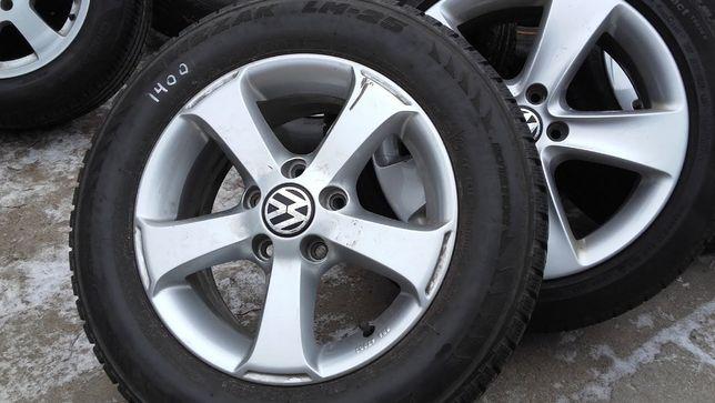 Alufelgi 5x112 do VW i opony zimowe Bridgestone 195/65/R15