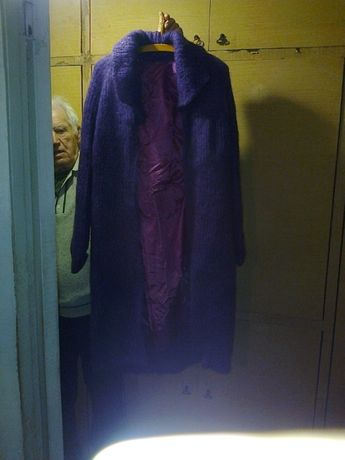 Пальто из мохера. Banana Rama