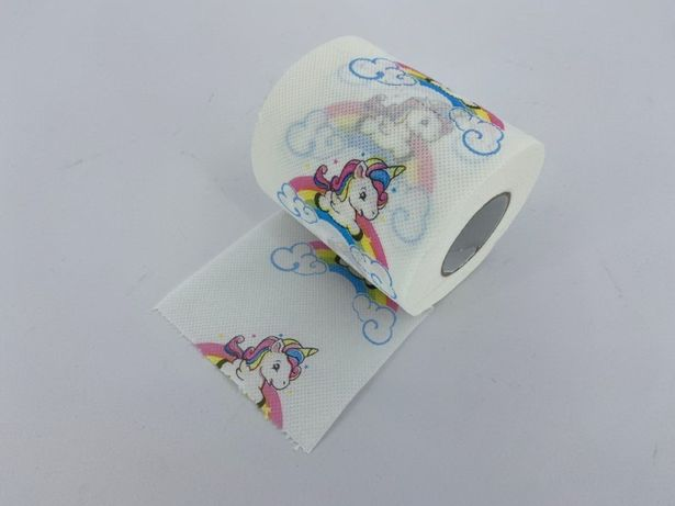 Детская туалетная бумага с рисунком Единорог, подарок, сюрприз, прикол