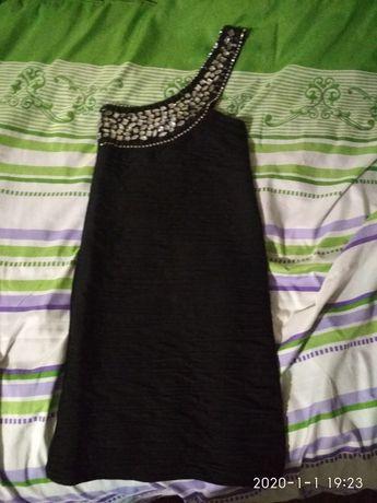 Платье мини, туника на одно плечо