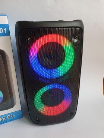 Głośnik kolumna Bluetooth bezprzewodowy LED radio
