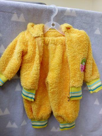 костюм теплий м'який жовтий 80р.