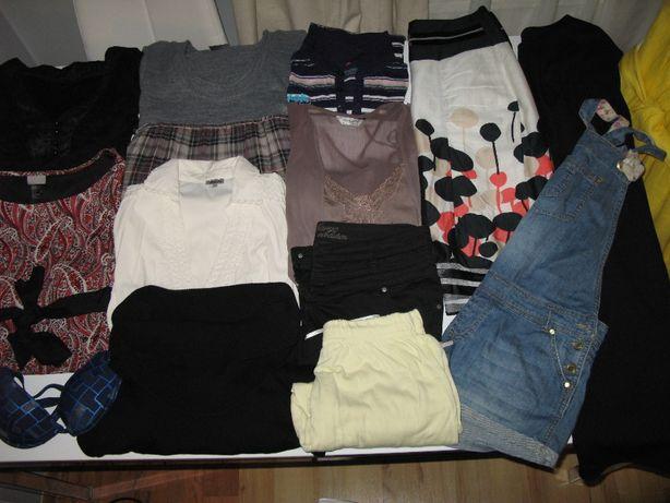 paczka,bluzki sukienki H&M, FF,Terranova,swetry spodnie ubrania rozm.M