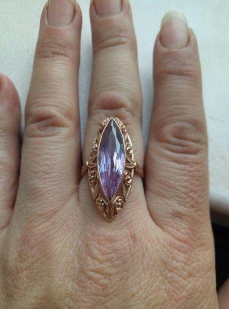 золотое кольцо СССР 5.4 грамма 17.5 размер