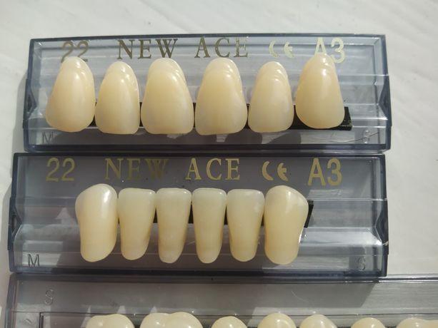 Зуби пластмасові Штучні зуби Зуботехнічне гарнитуры зуботехнические