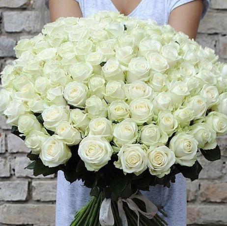 Акция! 101 Роза Цветы Букеты Розы Доставка 24/7  Киев