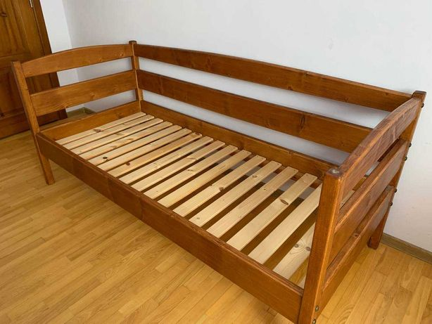Ліжко односпальне масив  сосна (4 см. 2шт.)
