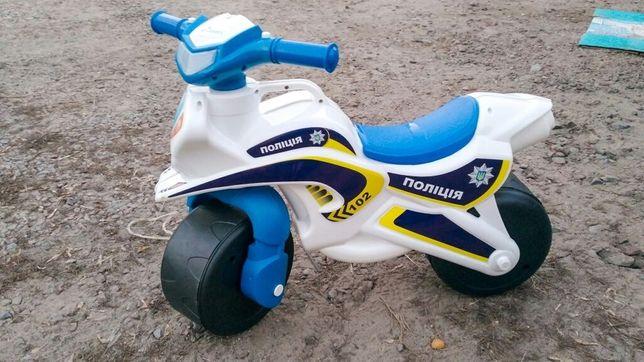 Музыкальный мотоцикл , каталка толокар ТМ Долоні
