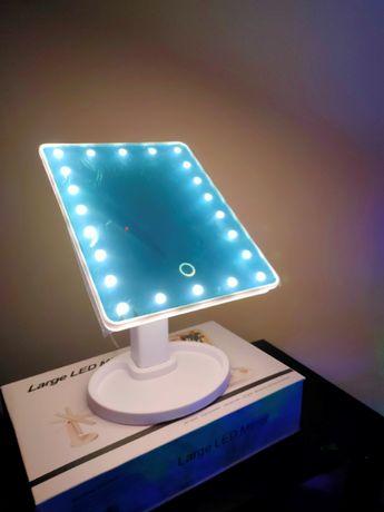 Оригинальное косметическое зеркало с подсветкой прямоугольное для мак