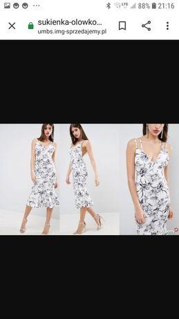 Nowa z metka sukienka Asos w kwiaty wesele 38