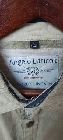 Koszula lniana Angelo Litrico L