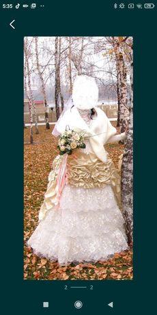 Уникальное свадебное платье.