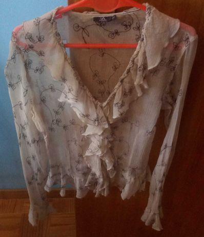 Blusa tecido transparente Lanidor
