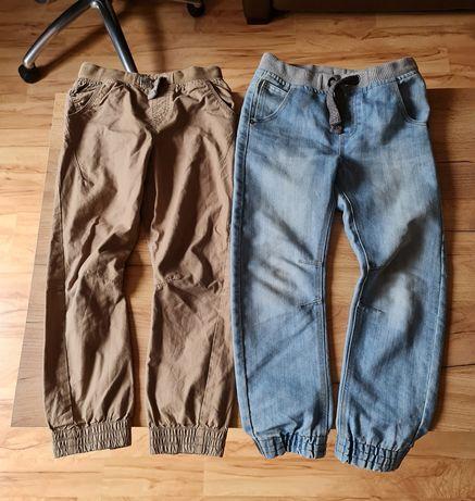 F&F spodnie chłopięce 2 pary spodni na gumce 8-9 lat 128-134