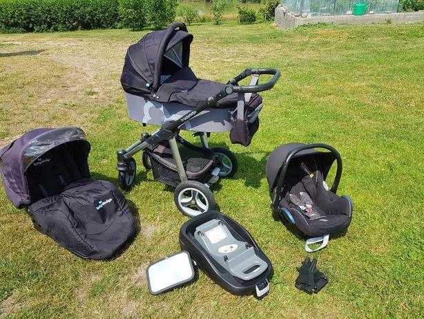 Wózek dziecięcy, spacerówka, fotelik maxi cosi cabrio, baza isofix