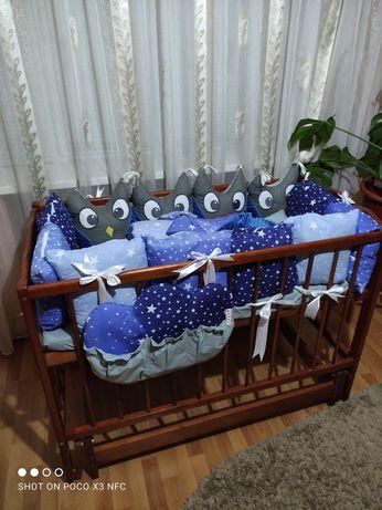 Бортики ,постель, набор в кроватку + подарок