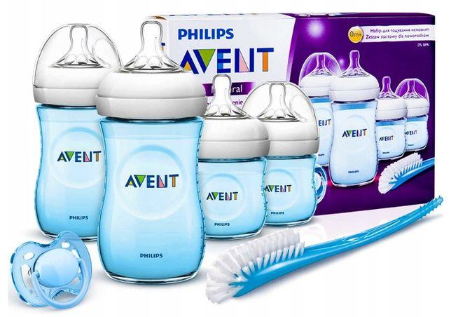 Zestaw butelek Avent + szczotka