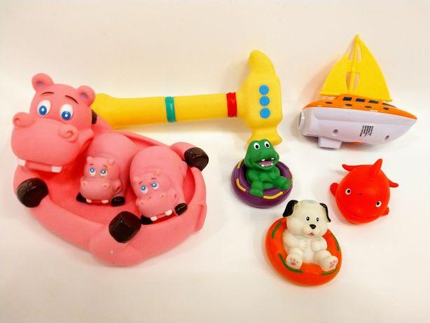 Zabawki do kąpieli canpol baby zwierzęta młotek łódka delfin piesek