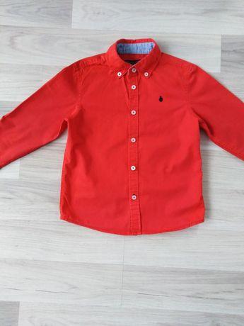 Koszula z długim rękawem czerwona 104
