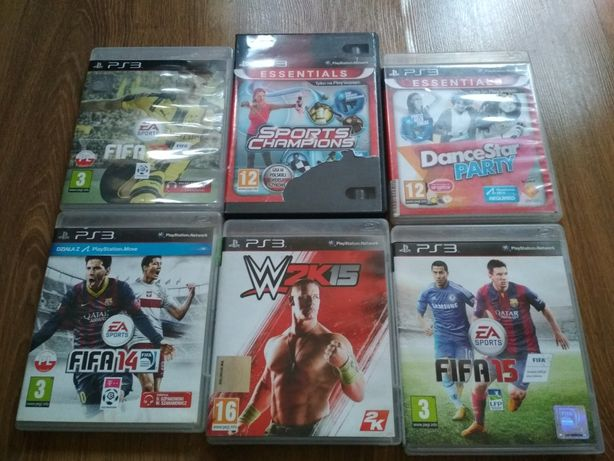 Gry sportowe ps3 fifa 14,15,17,w2k15,sport chamions i dance star party