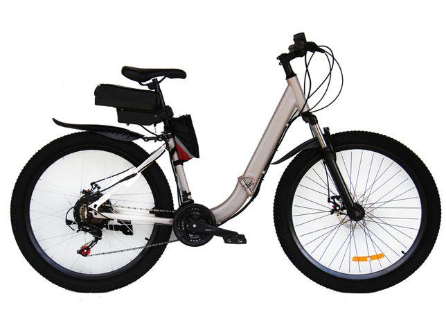 Электровелосипед складной Вольта Де люкс , мотор 36 в 350 вт