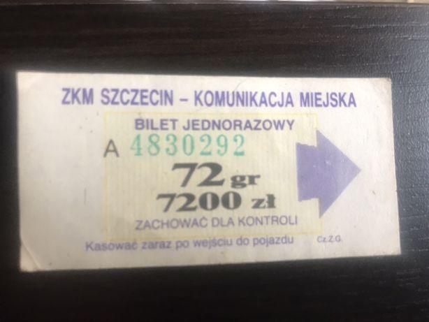 Bilet ZKM Szczecin , 50 lat