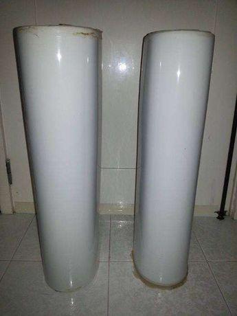 colunas de lavatorio de casa de banho
