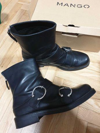 Ботинки Mango кожаные