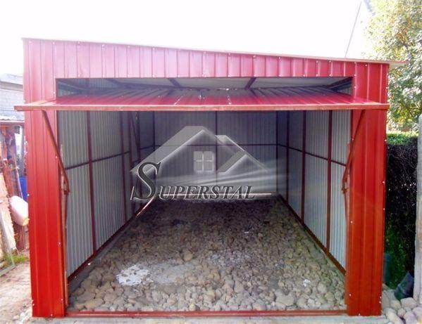 Garaż akrylowy 4x7 spad w tył I gatunek