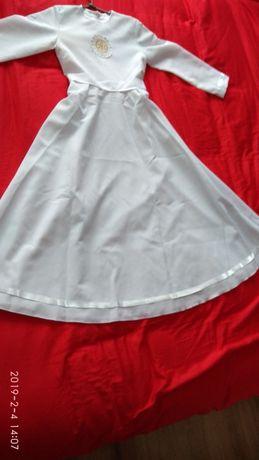 alba sukienka komunijna + torebka r.128