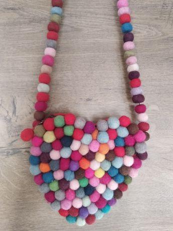 Oryginalna ręcznie robiona torebka serce