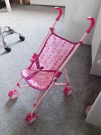 Wózek spacerowka zabawka i dwie lalki