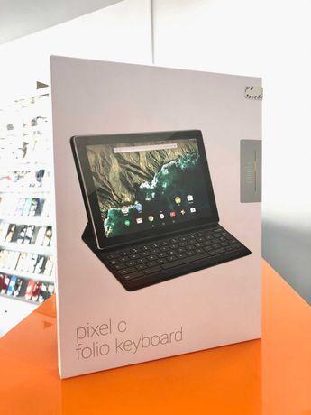 Pixel C Folio Keyboard Google Layout UK Preto NOVO