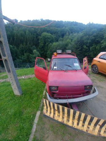 Fiata 126 z pługiem