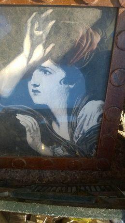 Sprzedam obraz pastel przedstawiajacy kobiete