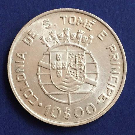 S. Tomé e Príncipe-10 escudos 1939 - RARA em SOBERBA