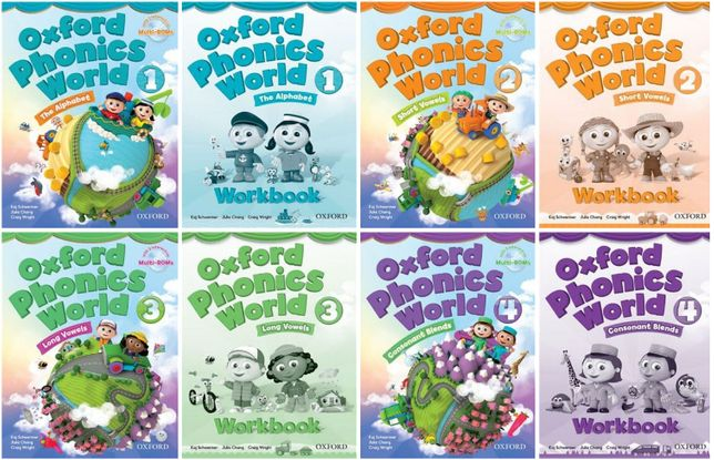 Oxford Phonics world 1,2,3,4,5. Комплект! Метал. пружина!!!