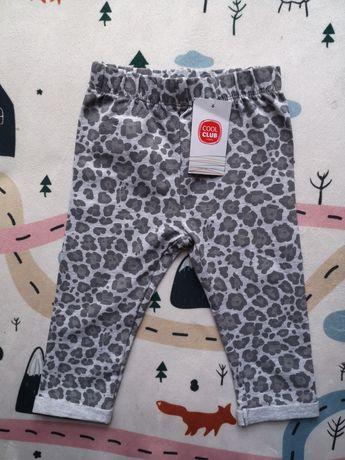 Spodenki cool club spodnie panterka 74 6-9m niemowlęce dziewczęce nowe