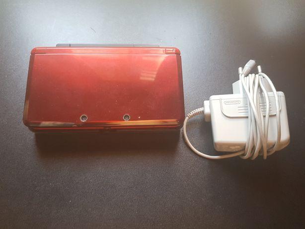 Nintendo 3DS + carregador + suporte para carregar