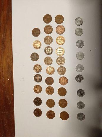 Coleção completa X centavos bronze