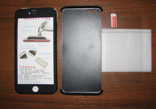 Чехол 360* + стекло для смартфона айфон iPhone 6+, 6s+