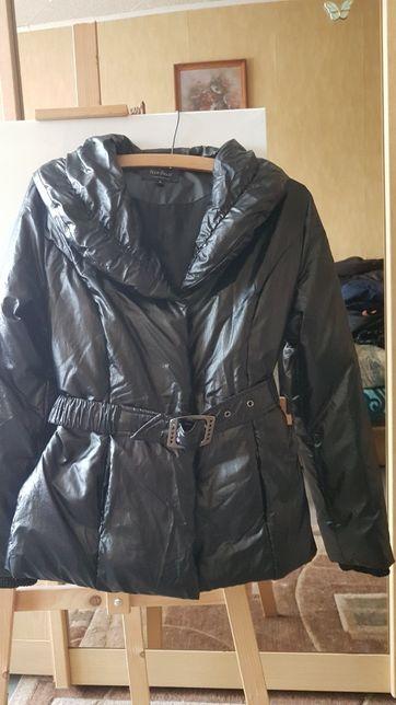 Czarna błyszcząca kurtka S/M